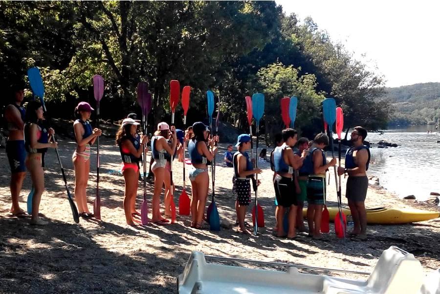 Actividades de deporte durante campamento
